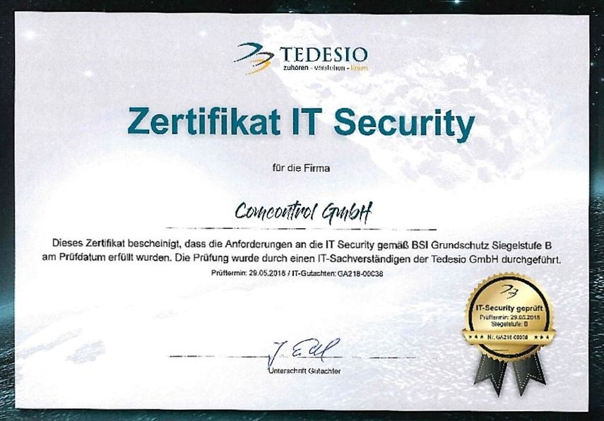 Zertifikat IT Security